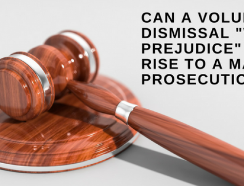 "Can a voluntary dismissal ""without prejudice"" still give rise to a malicious prosecution claim?"