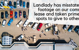 Landlady has misstated square footage on our commercial lease and taken prime parking spots to give to other tenant