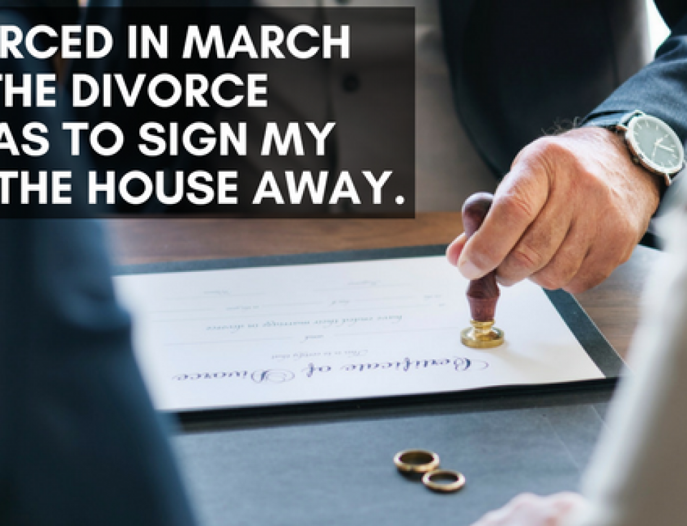 I was divorced in March of 2011, in the divorce decree I was to sign my rights to the house away.